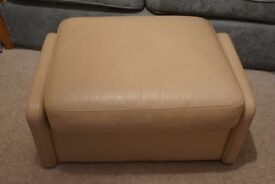 Cream leather covered foot-stall. In good condition.