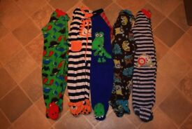 boy's fleece sleep suit bundle. 12-18 months