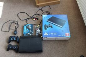 playstation 3, 12GB with games and 2 controlers and more