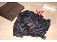 Louis Vuitton luxury black shawl/scarf