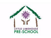 Nursery Nurse– Little Limehouse Pre School