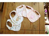5 baby girl bibs John Lewis & M&S: never been worn.