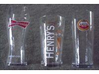 PINT GLASSES 35p EACH BRAND NEW