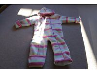 Girls JoJo Maman Bebe snowsuit. Size 12-18 months
