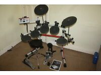 Yamaha DTXPRESS IV Standard Electronic Drum Kit with Headphones and Sticks and Stool