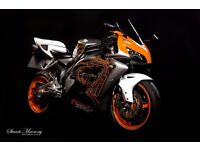 Motorcycle spray painting