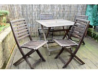 Garden table and chairs wooden folding garden table and 4 wooden chairs