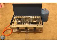 Campingaz Camping Chef Double Burner and Grill with gas bottle