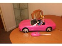 Barbie remote control car and doll