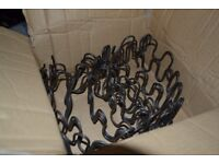 """ZIG ZAG springs 10x 22"""" with 40x NAILS and 20x CLIPS"""