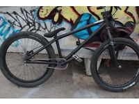 "24"" NS Suburban jump bike matt black"