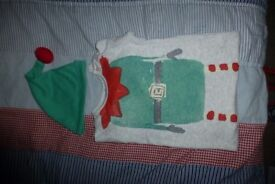 Christmas onesie from NEXT - Elf with a hat