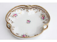 Beautiful Hand Decorated Noritake Japanese Trinket Dish Hand Painted Pin Dish Gilded Antique Vintage