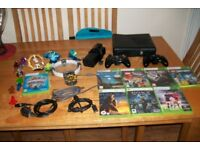 £60 xbox 360 + 2 controllers + 9 good games minecraft skylanders trap team & dimensions home chatham
