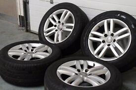 """Genuine OEM AUDI Q7 18"""" 5x130 alloy wheels + four tyres! Ready to fit! Porsche Cayenne VW Tourag"""