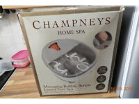 Champneys CHBB-3-3GB Massaging Bubble Action Deluxe Foot Spa + products and nail clippers