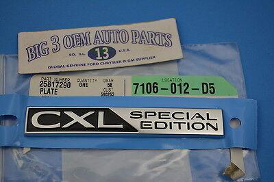 2008-2011 Buick Lucerne CXL Liftgate Lid EMBLEM Nameplate new OEM 25817290