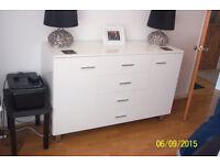 white high gloss sideboard cupboard
