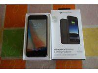 Apple iPhone 6 - 16GB - Space Grey (Unlocked) + Mophie Mophie Juice Pack Wireless & Charging Base