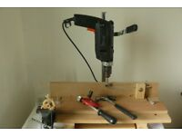 Drill Press stand - Table-Top workbench - hand tools - bench vice