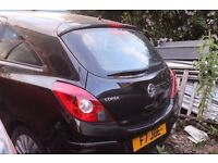 Vauxhall Corsa, Black colour, Breaking and selling for Parts