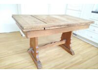 OAK 40s utility table solid and extentible