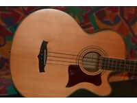 Tanglewood Electric/Acoustic Bass Guitar