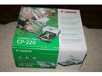 Canon CP – 220 Compact photo printer. Portable. Direct from Digital Camera.