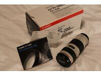 Canon 70-200mm f4 L series lens, perfect condition only used a handful of times