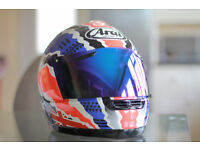 Limited Edition Arai Helmet - Mick Doohan Jubilee RX-7 - Visor Upgrade & Carry Case - Medium