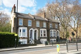 A two bedroom lower ground flat in a Victorian conversion in Deptford.