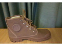 Size 38 Aigles, Seldom Worn, New Condition, Mens Brown Walking Shoe, High Top and Laces, Rubber Sole