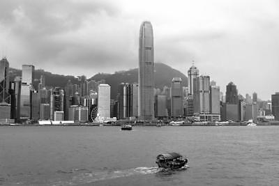 Photo. Hong Kong, China.  Victoria Harbour - Skyline