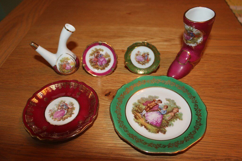 LIMOGE BONE CHINA six pieces selling together for only £6 the lot