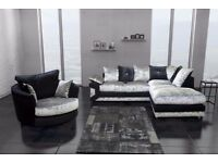 BRAND NEW DINO DIAMOND RIGHT / LEFT CORNER CRUSHED VELVET SOFA AVAILABLE IN DIFFERENT COLORS
