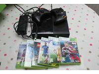 XBox 360 500GB Bundle - Console, Two controllers, Six games.