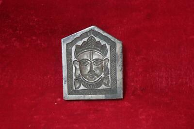 Old Antique Rare Iron handcarved Indian God Bheruji Face Mold Collectible BI-88