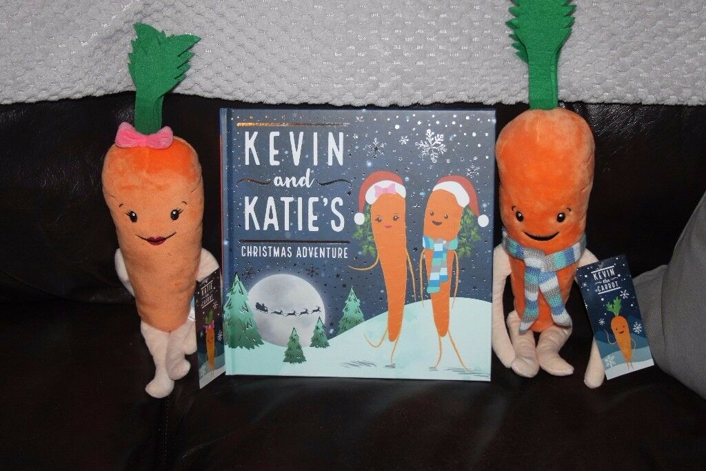 kevin and katie carrot soft toys plus book aldi 2017 in. Black Bedroom Furniture Sets. Home Design Ideas