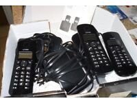 3 set landline phones