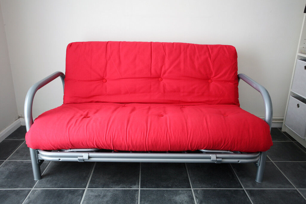 Argos Quot Mexico Quot Double Metal Futon Sofa Bed Poppy Red