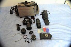 Chinon 35mm Camera plus Lenses