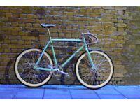 JanuarySale GOKUCYCLES Steel Frame Single speed road bike track bike fixed gear racing fixie