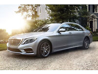 Mercedes Benz S Class LWB Chauffeur Driven Wedding Car Hire, Corporate, Proms, Events