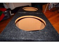 Twin sub woofer enclosure