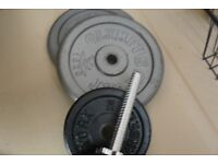 Weights Barbell Bar 6Ft chromed plated - plates