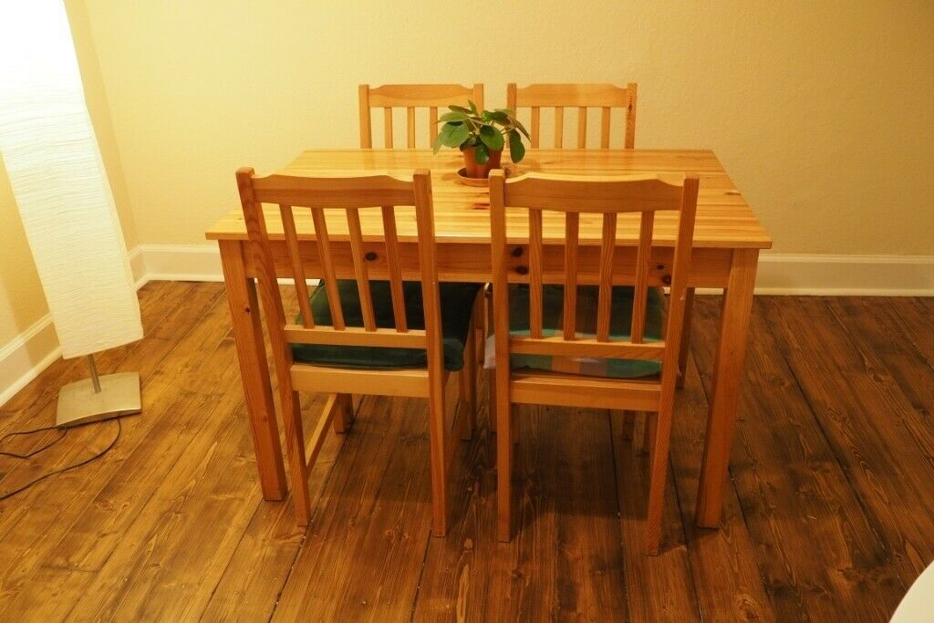 Ikea Dining Table Amp 4 Chairs Pinewood On Hold In Newington Edinburgh Gumtree