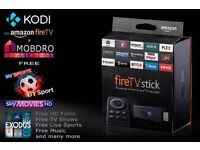 Amazon TV fire stick fully loaded latest kodi 16.1/ mobdro / spinz TV build 2.5 for all you full TV