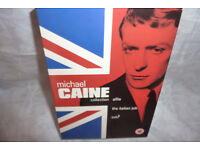 Michael Caine DVD Collection which includes the iconic movies Alfie,the italian job and Zulu