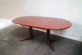 1970's Danish large extending dining table by Skovby