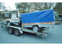 brand new large log baggage trailer 4 x 8 soft cover canopy